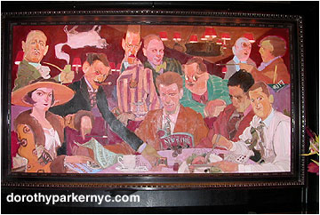 [NEW ALGONQUIN ROUND TABLE PAINTING]