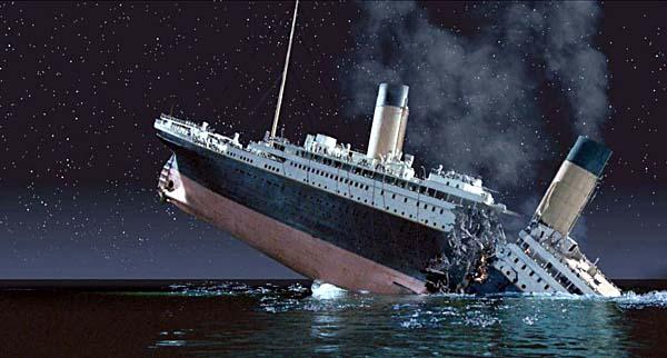 Titanic sinking.