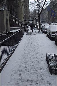 West 68th Street Snow