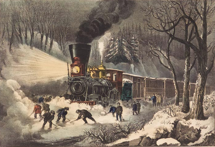 Snowbound Train