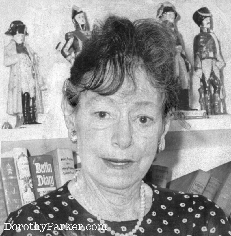 Dorothy Parker in 1963.