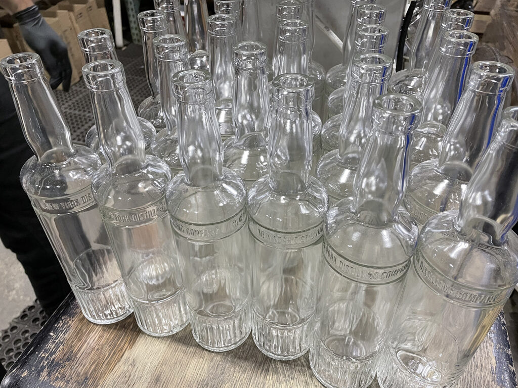 Bottles ready to fill.